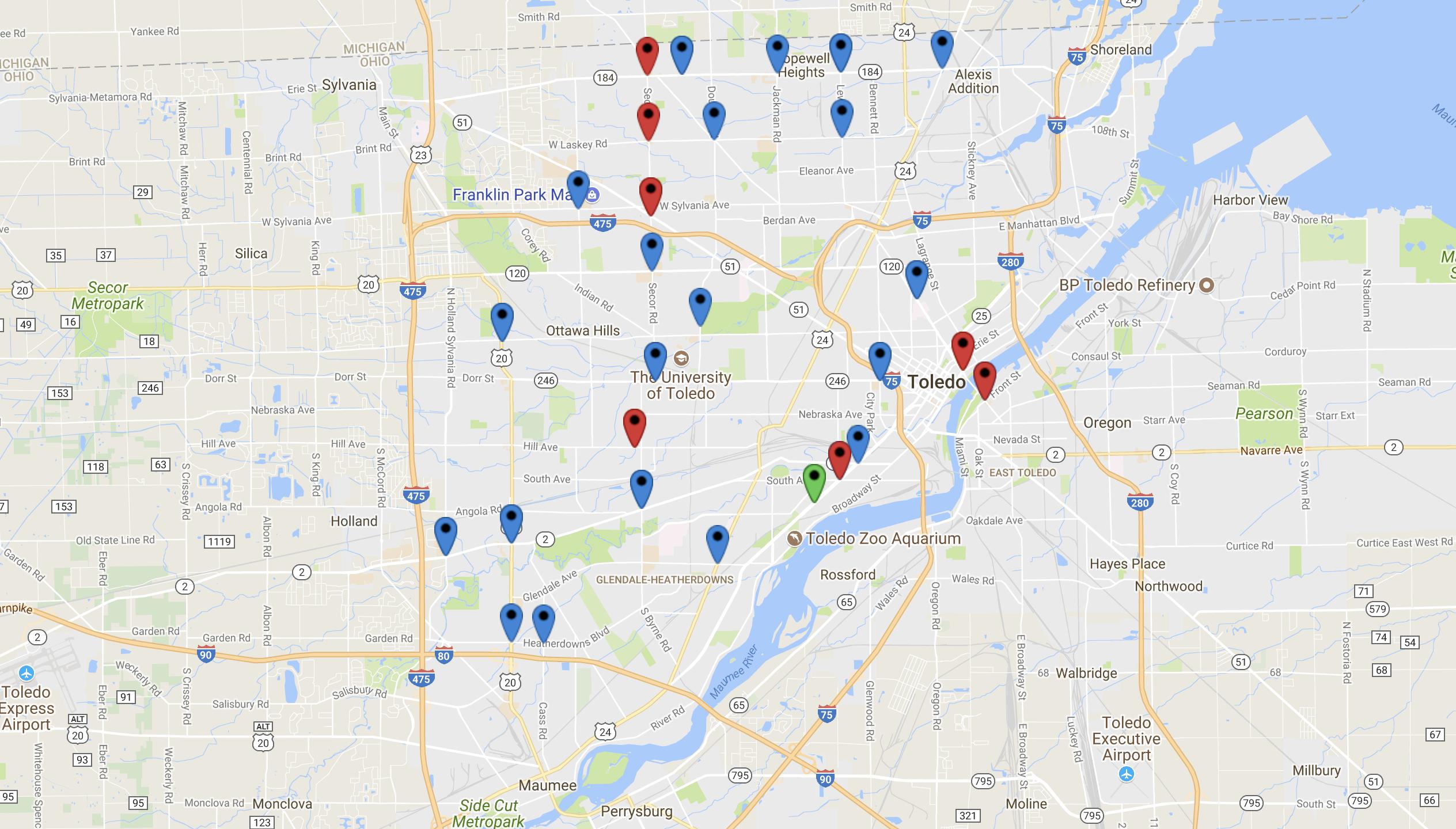 Red Light Camera Locations In Toledo, OH